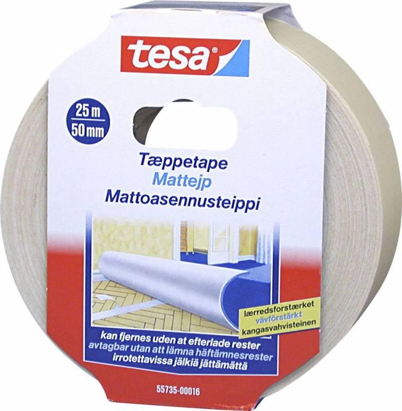 Image of   Tæppetape tesa 55735 aftagelig 50mmx25m