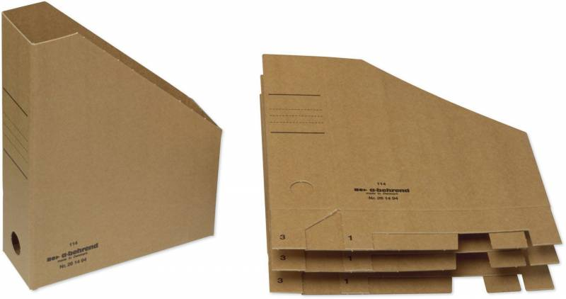 Billede af Tidsskriftskassette karton A4 brun rygbrd. 7,5cm
