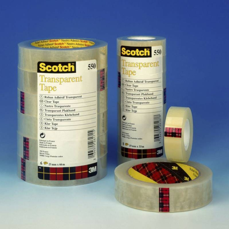 Image of   Tape Scotch kontortape 550 transparent 15mmx33m