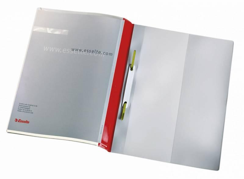 Billede af Tilbudsmappe Esselte m/lomme + dobb forside rød