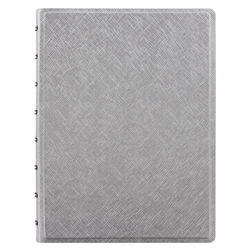 Image of   Notebook Filofax A5 sølv linieret inkl. månedskalender