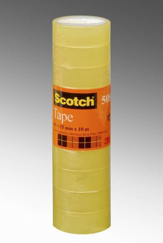Billede af Tape Scotch kontortape 508 transparent 15mmx33m