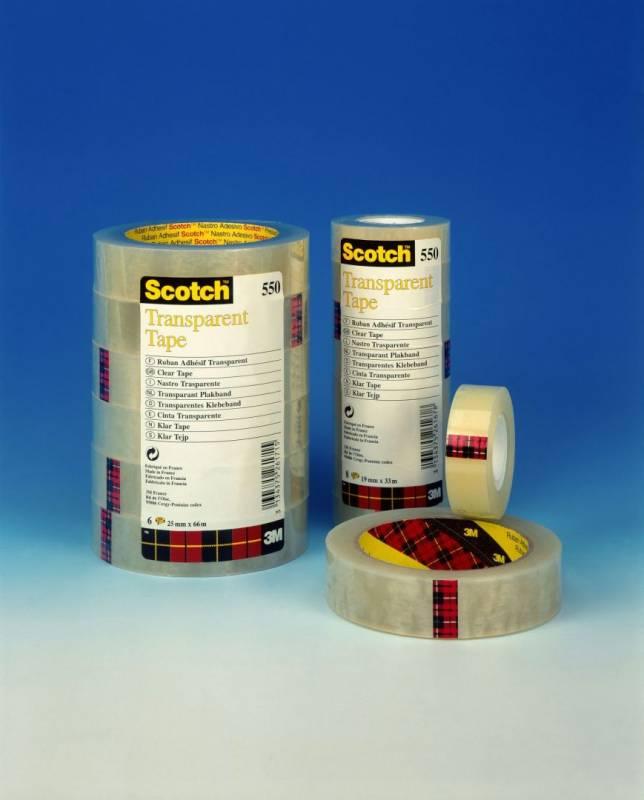Billede af Tape Scotch kontortape 550 transparant 19mmx33m