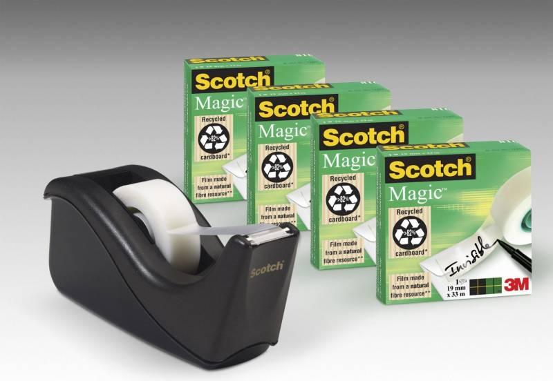 Billede af Tape Magic 19mmx33m 4rl + 1 sort C60 dispenser