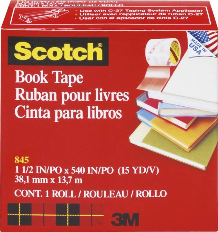 Billede af Tape 3M bogtape 845 Klar 38mmx14m