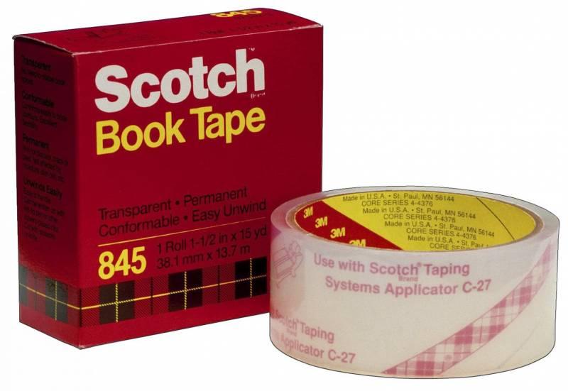 Billede af Tape 3M bogtape 845 Klar 50mx14m