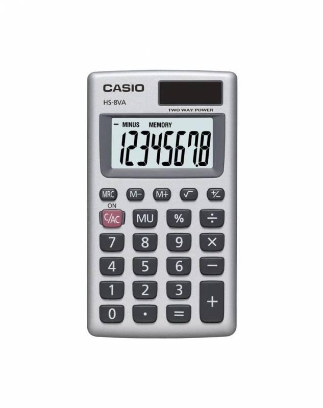 Image of   Lommeregner Casio HS-8VA 8 cifre - metalkabinet
