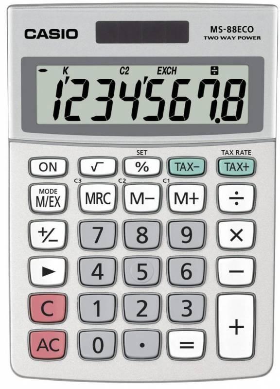 Billede af Mapperegner Casio MS-88ECO 8 cifret display, EURO