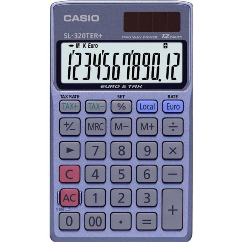 Image of   Lommeregner Casio SL-320TER+ TAX og EURO 12 cifre