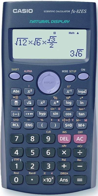 Billede af Matematikregner Casio FX-82ES m. hardbox 2-liniers display