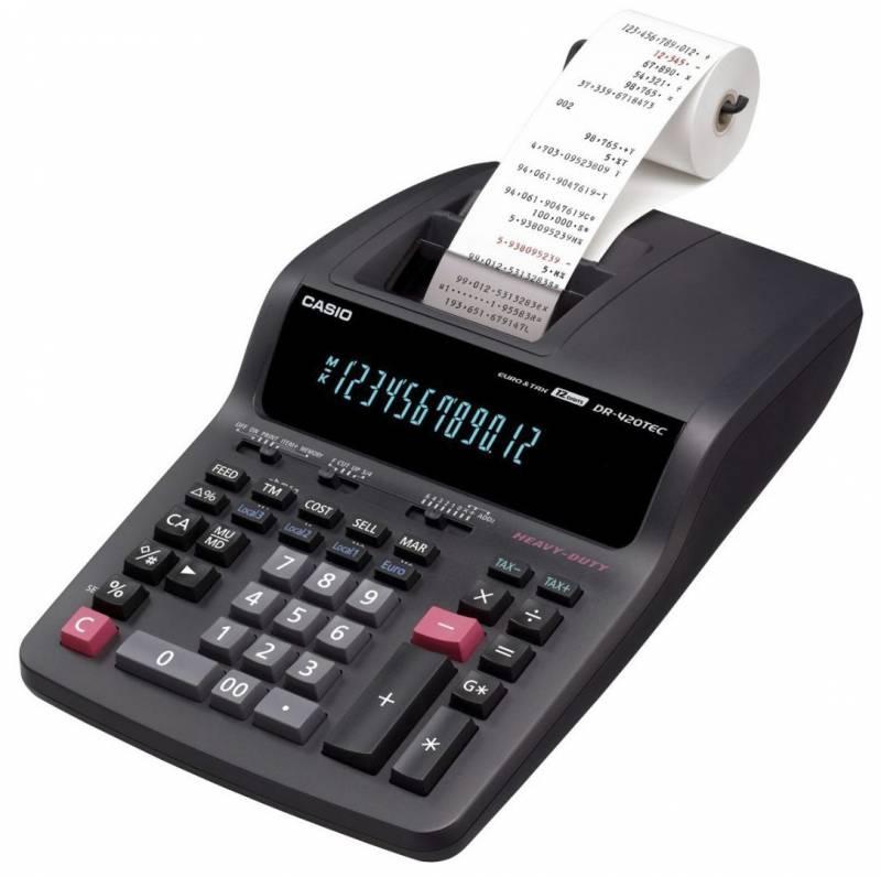 Billede af Strimmelregner Casio DR-420TEC tax&euro/12 cifre