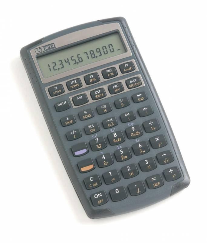 Image of   Lommeregner HP 10BII DK finans