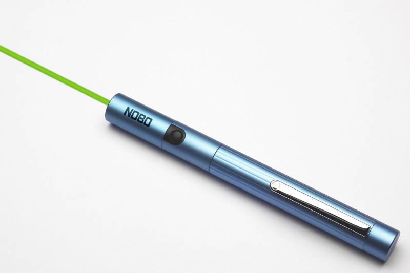 Laserpointer NOBO grøn lysplet Ideel til brug på LCD skærm