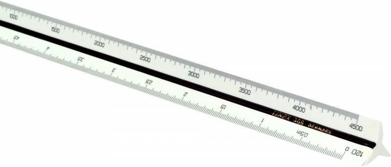 Billede af Målestok trekantet Linex 318 1:15:20:25:50:75:100