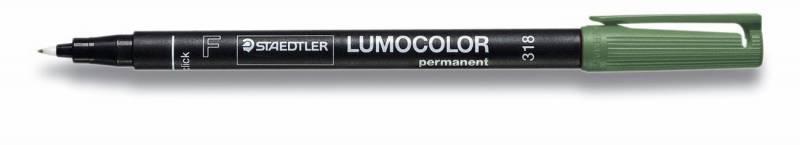 Image of   OHP-pen Lumocolor grøn F 0,6mm 318-5 permanent