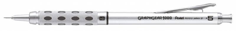 Image of   Pencil Pentel sølv/sort 0,5mm PG1015-A
