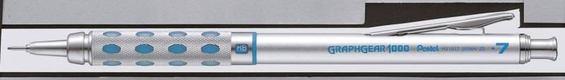 Image of   Pencil Pentel sølv/blå 0,7mm PG1017-C