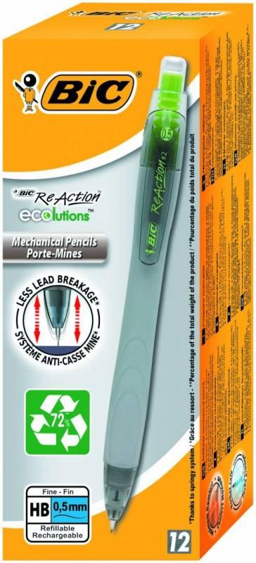 Billede af Pencil BIC ReAction 0,5mm i ass. farver sort eller grå