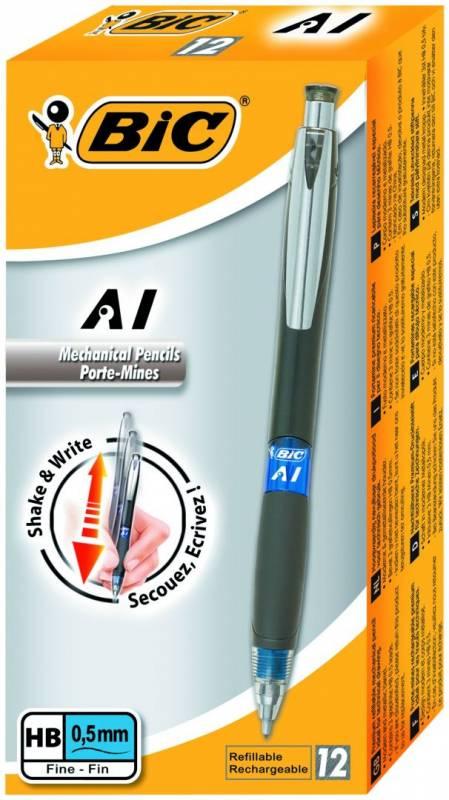 Billede af Pencil BIC AI Shaker 3i1 0,5mm grå M/3 miner og viskelæder