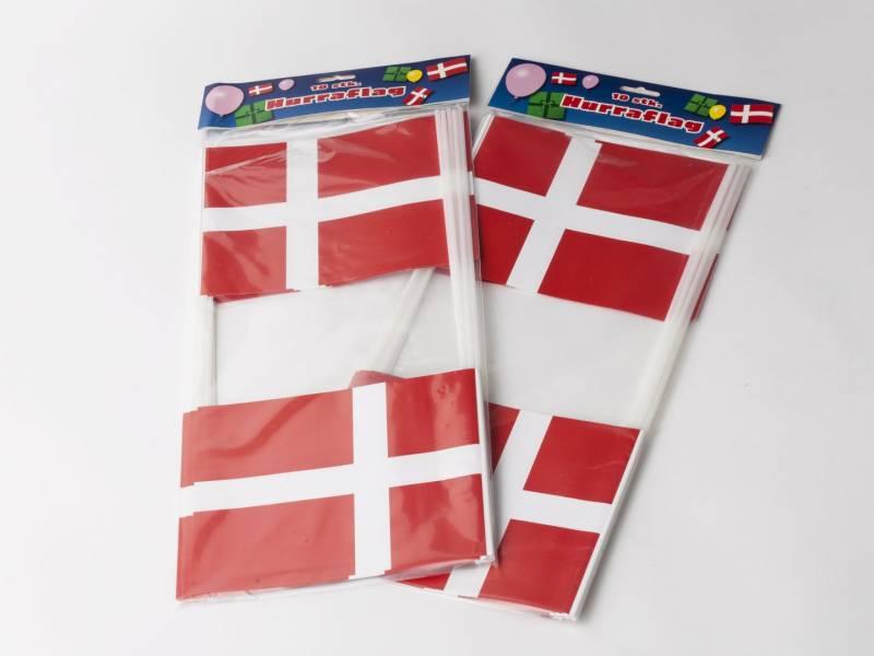 Billede af Flag papir på pind 14,5x19cm 10stk/pak