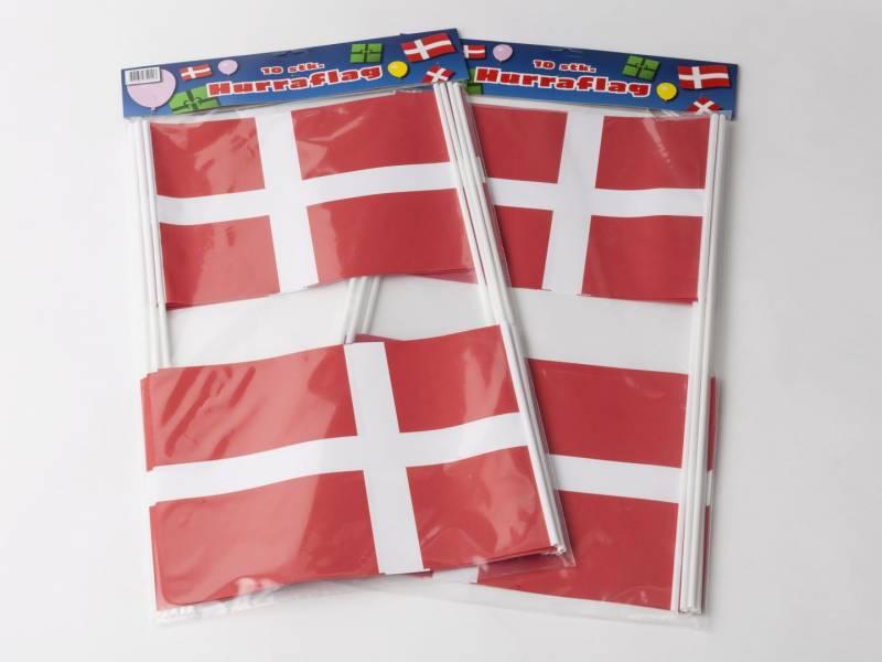 Billede af Flag papir på pind 20x27cm 10stk/pak