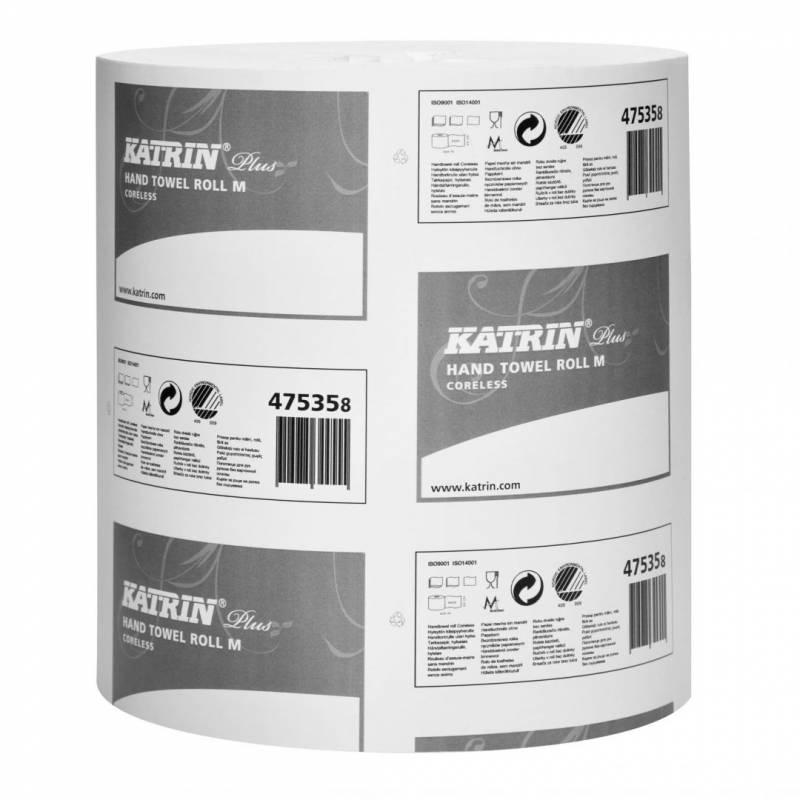 Aftørringspapir Katrin Plus M 1-la 20,5cmx280m 6rl 475355