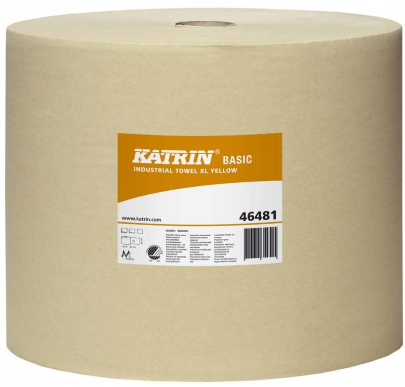 Billede af Aftørringspapir Katrin XL gul 1-lags 32cmx1170m 1rul/kar