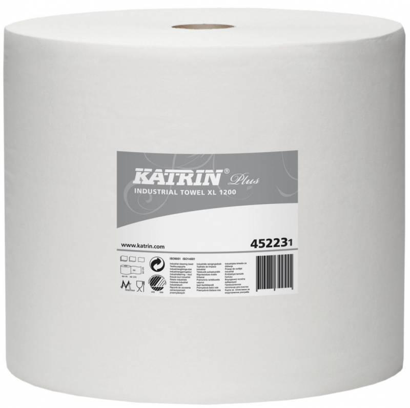 Billede af Aftørringspapir Katrin Plus XL 1-lags 32cmx1110m hvid 1rul