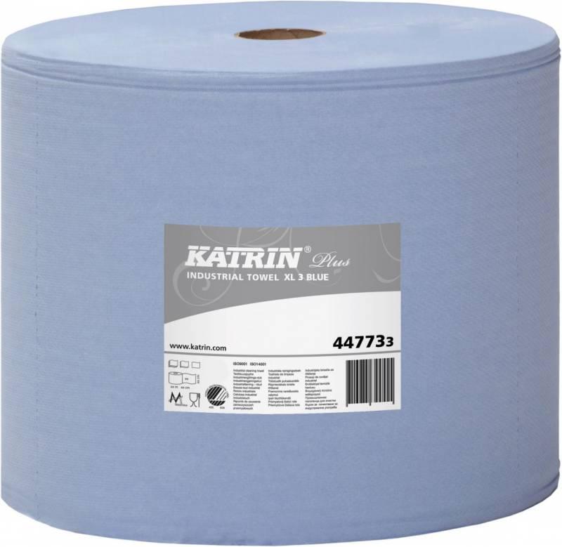 Billede af Aftørringspapir Katrin XL3 blå 3-lags 31cmx370m 1rul/kar