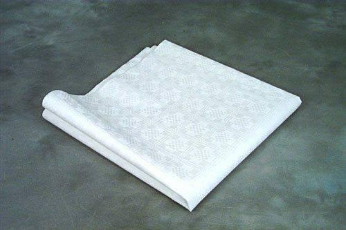 Billede af Stikdug papir m/præg hvid 80x80cm 250stk/pak