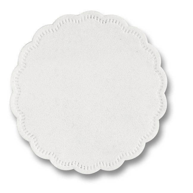 Billede af Kopunderlag hvid 9cm 8-lags rund 500stk/pak