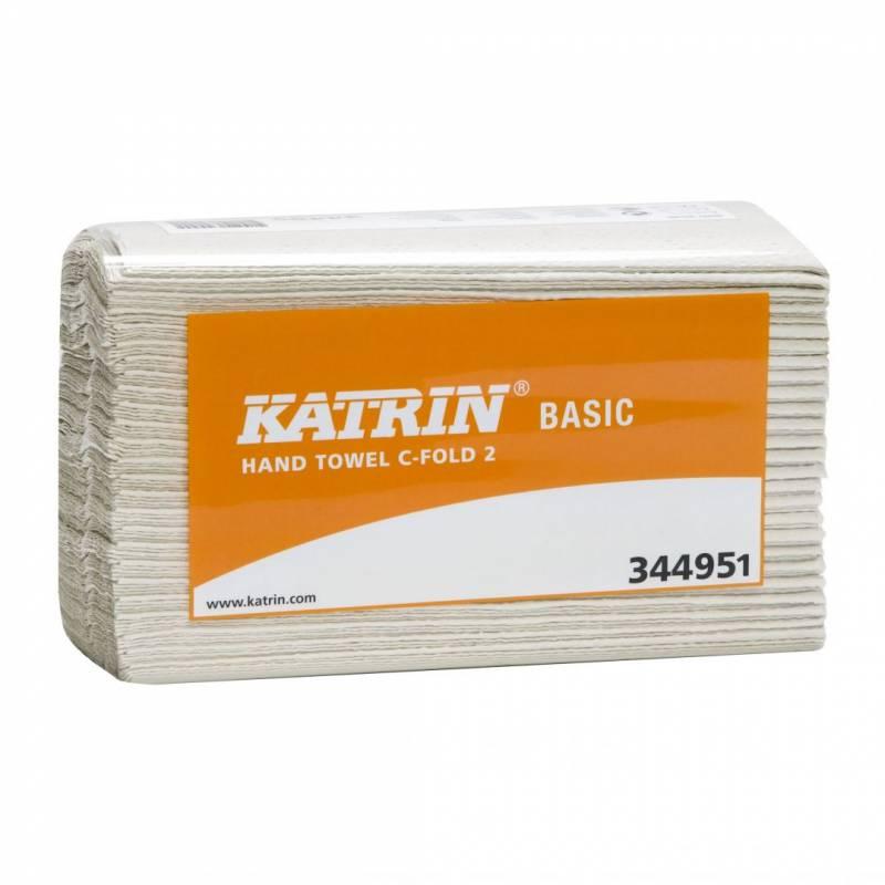 Billede af Katrin 344951 Basic C-Fold 2-lags B: 24, L: 33 cm 3000ark/kar