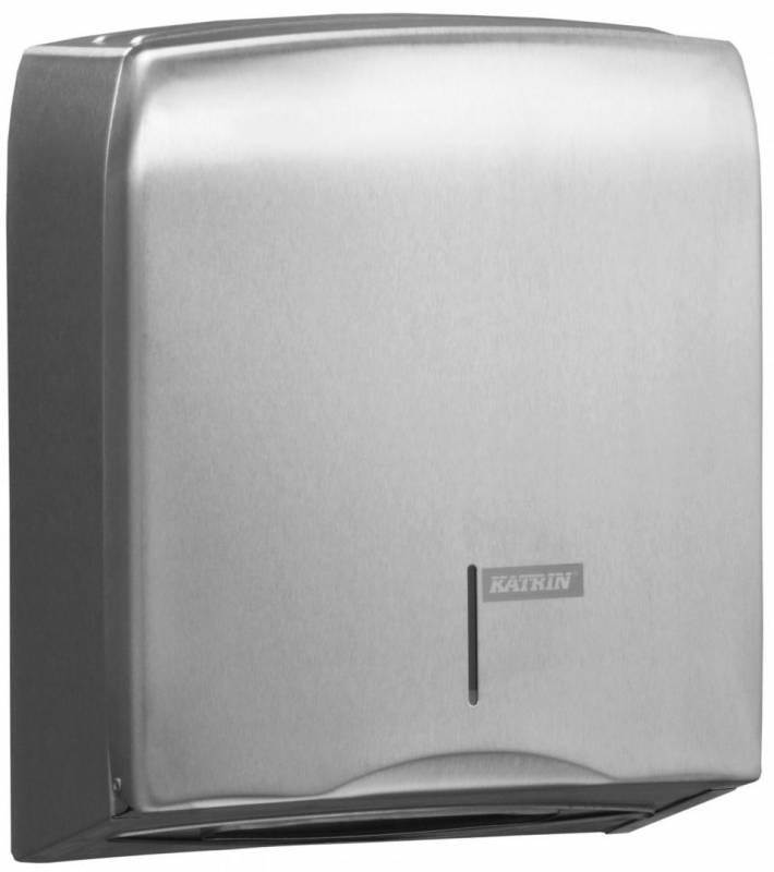 Image of   Dispenser t/papirhåndklæder Katrin rustfri m/lås 988366