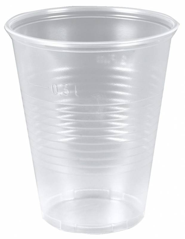 Image of   Plastikglas blød 30cl PP (øl) 50stk/ps (målestreg 0,3)