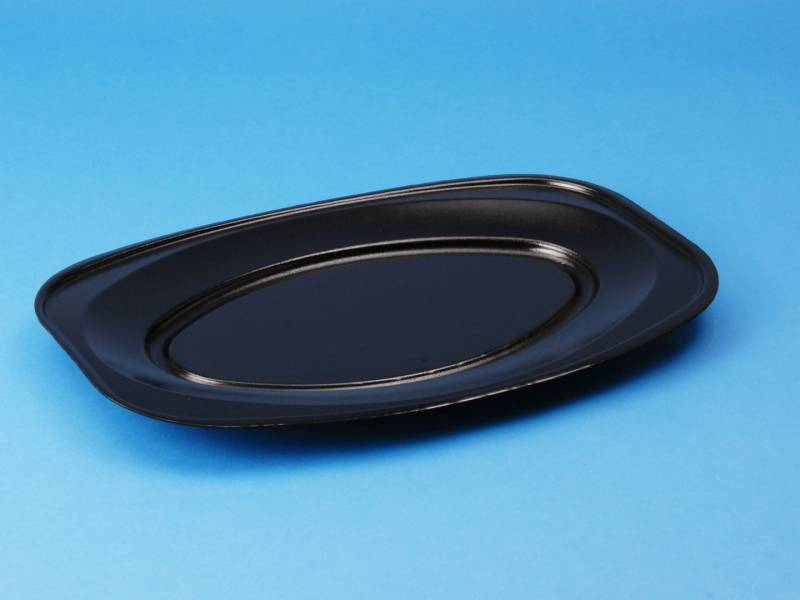 Cateringfad skum sort 45x29cm oval 90stk/pak
