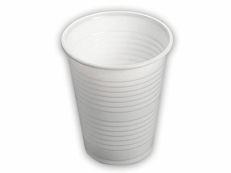 Image of   Drikkebæger hvid 20cl PS 100stk/ps