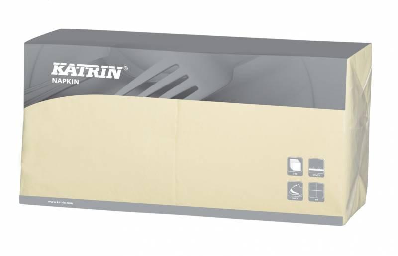 Image of   Servietter Fasana 1/4 fold 3-lags creme 33cm 4x250st 114485