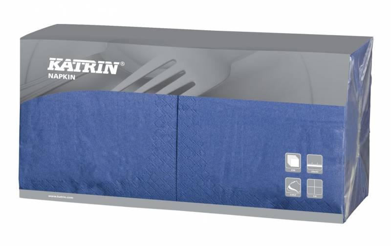 Billede af Servietter Katrin 1/4 Fold 3-la blå 33cm 4x250stk 114423