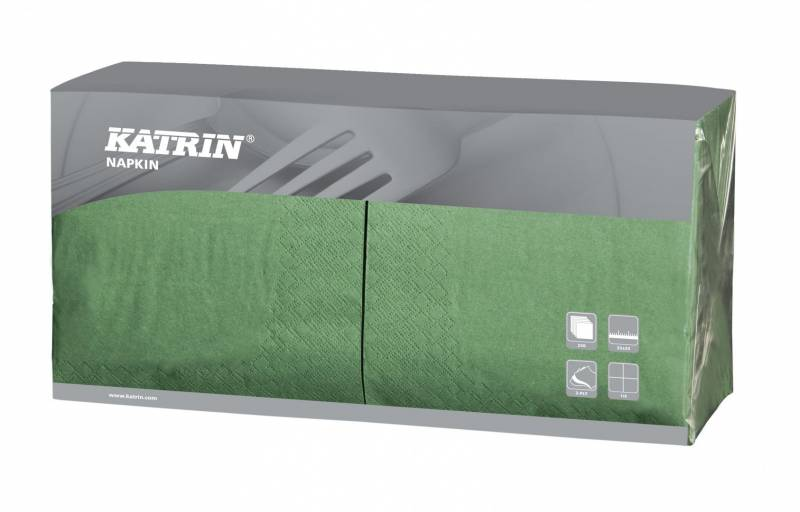 Image of   Servietter Fasana 1/4 Fold 3-lags grøn 33cm 4x250stk 114393