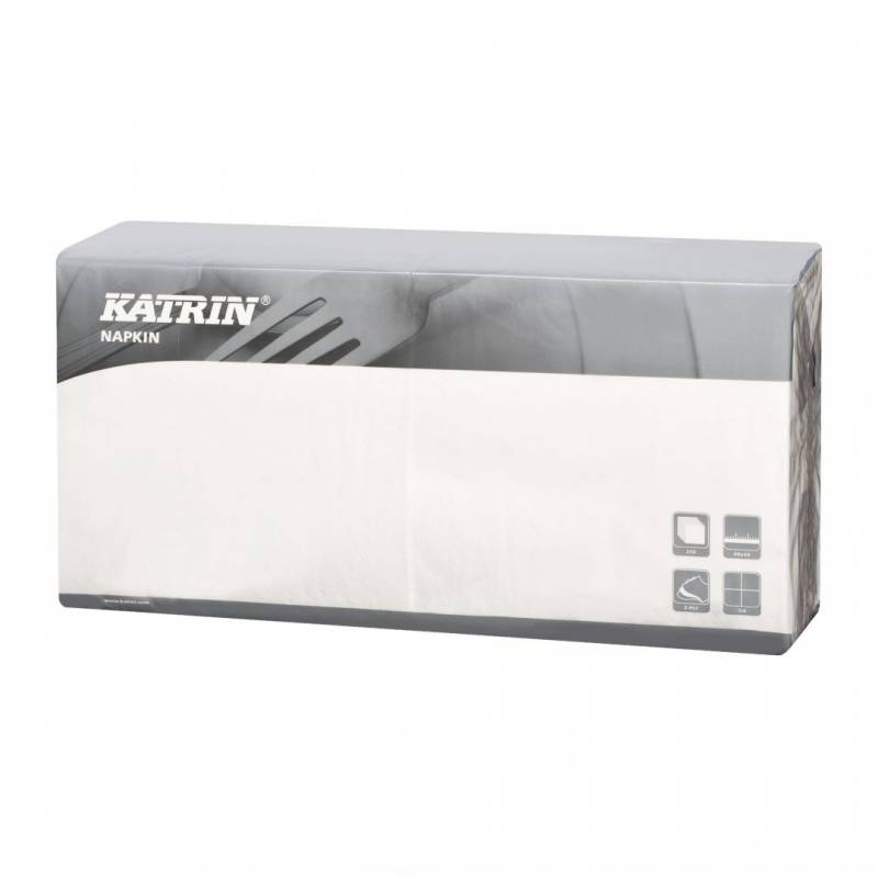 Image of   Servietter Fasana 1/4 fold 3-lags hvid 40cm 4x250stk 115048