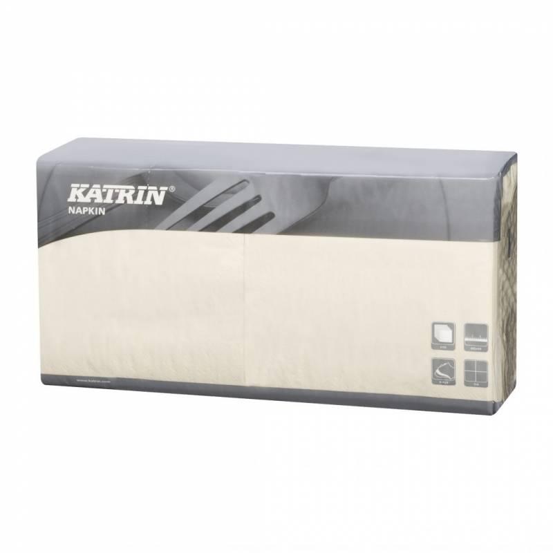 Image of   Servietter Katrin 1/4 fold 3-lags creme 40cm 4x250st 115437