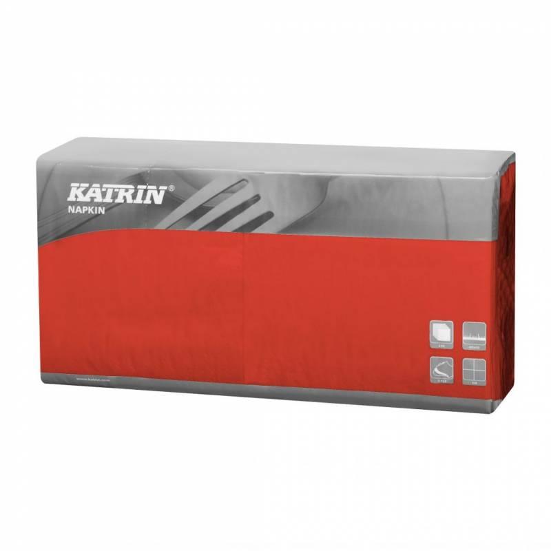Image of   Servietter Katrin 1/4 Fold 3-lags rød 40cm 4x250stk 115345
