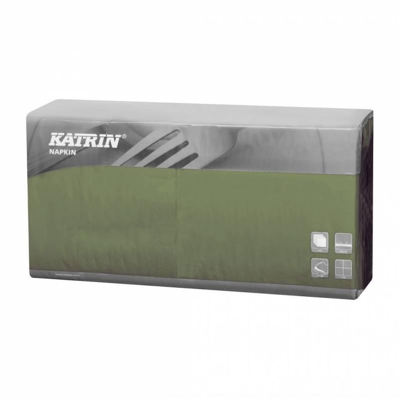 Image of   Servietter Katrin 1/4 Fold 3-lags grøn 40cm 4x250stk 115376