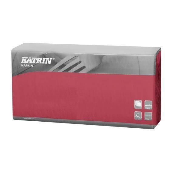 Image of   Servietter Katrin 1/4 fold 3-lags bordeaux 40cm 4x250s 115468