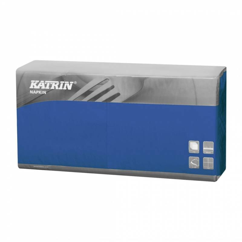 Image of   Servietter Fasana 1/4 fold 3-lags blå 40cm 4x250stk