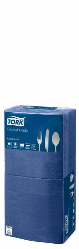 Billede af Servietter Tork 2-lags mørkeblå 24cm 12x200stk/kar