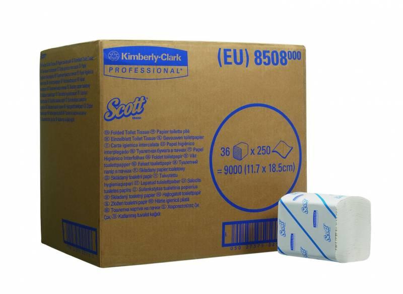 Billede af Toiletpapir Scott 2-lags hvid 8508 36pak/kar