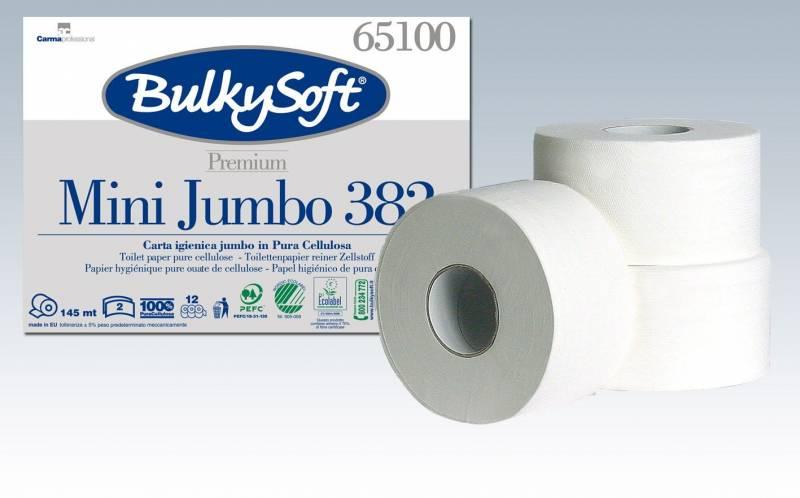 Image of   Toiletpapir Gigant S Bulky Sof 2-lags hvid 145m 12rul/pak
