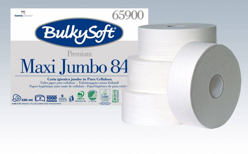 Billede af Toiletpapir Gigant M Bulky Sof 2-lags hvid 320m 6rul/kar