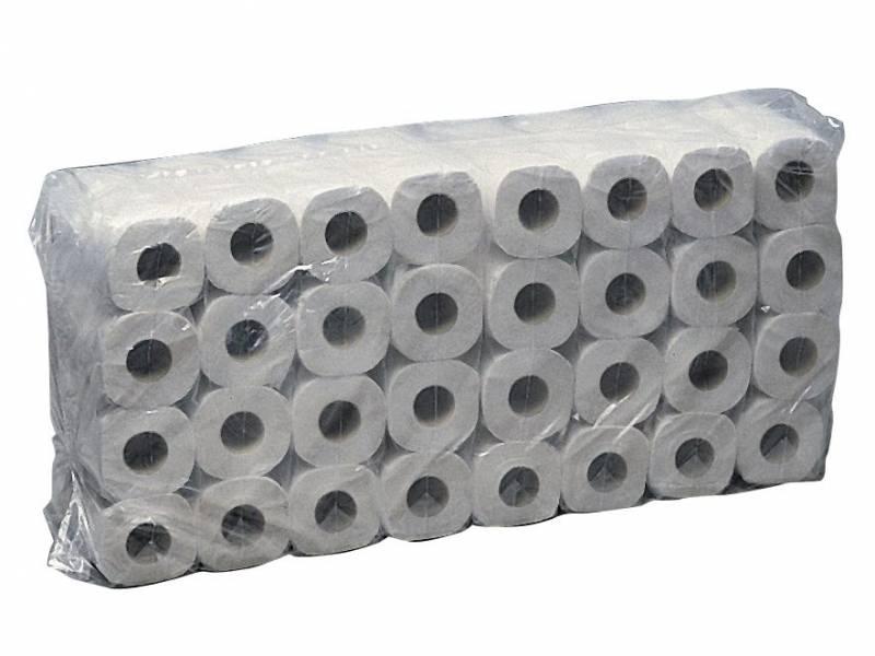 Image of   Toiletpapir Eurosoft 2-lags hvid 35m 14800 64rul/kar